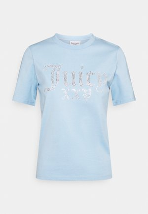 JUICY NUMERAL - Triko spotiskem - powder blue