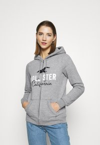 Hollister Co. - TECH CORE - Sudadera con cremallera - grey - 0