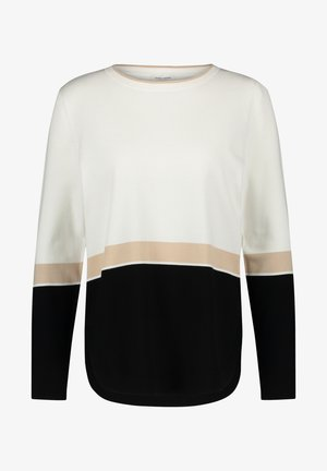 Sweatshirt - schwarz/ toffee/ ecru