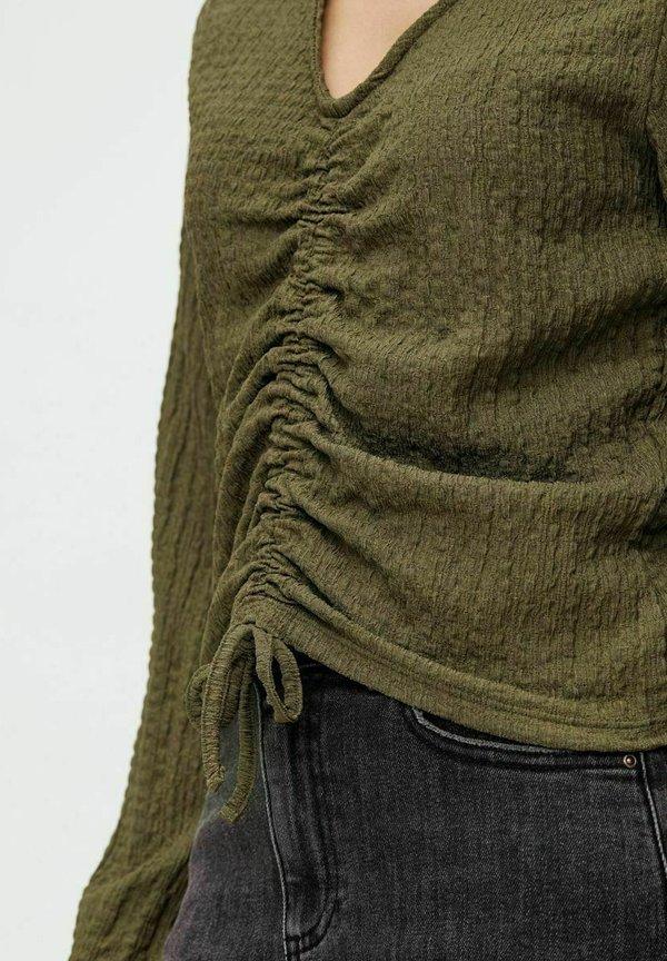Pieces Bluzka z długim rękawem - sea turtle/zielony OQUA