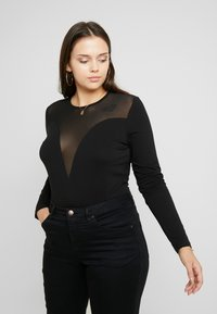 Even&Odd Curvy - Long sleeved top - black - 0