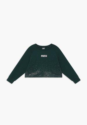 PUMA X ZALANDO METALLIC SPLASH GIRLS CREW - Sweater - ponderosa pine
