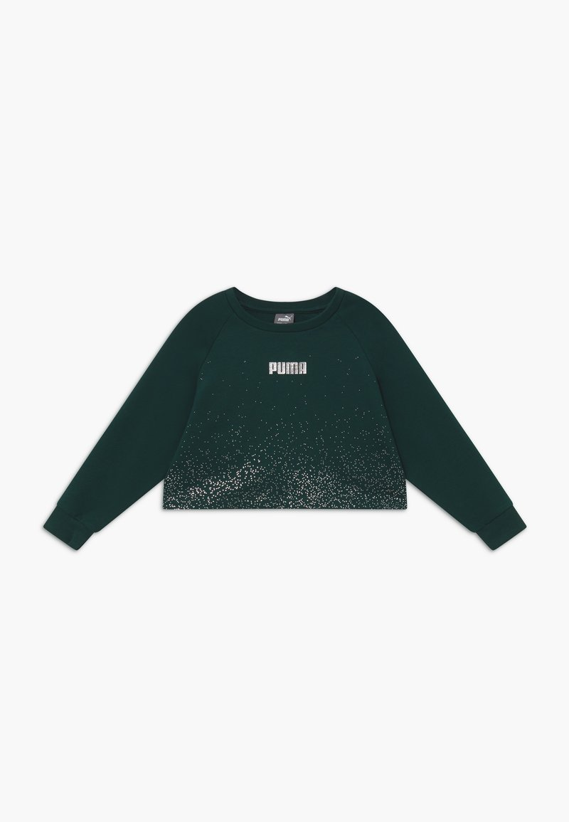 Puma - PUMA X ZALANDO METALLIC SPLASH GIRLS CREW - Sweater - ponderosa pine