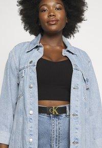 Calvin Klein Jeans - MONO HARDWARE - Pasek - black - 1