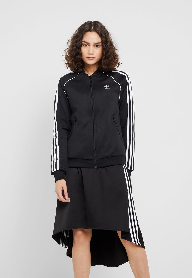 adidas Originals - ADICOLOR 3 STRIPES BOMBER TRACK JACKET - Training jacket - black