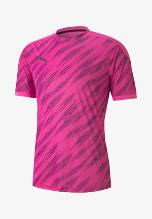 FTBLNXT GRAPHIC  - Printtipaita - luminous pink-puma black
