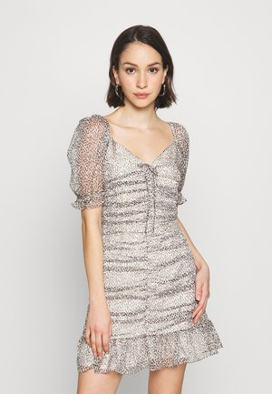 ARLEN MINI DRESS - Day dress - seeing spots/jungle fever