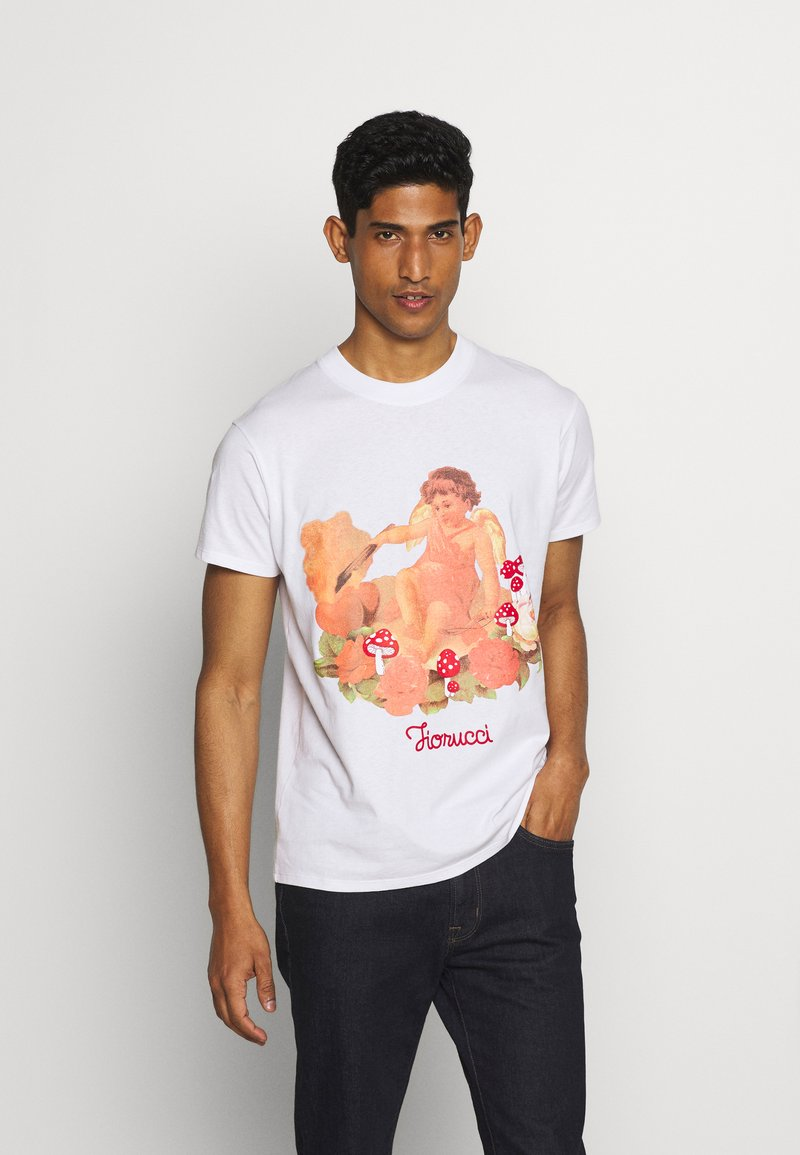 Fiorucci - CHERUB AND ROSES TEE - T-shirt con stampa - white