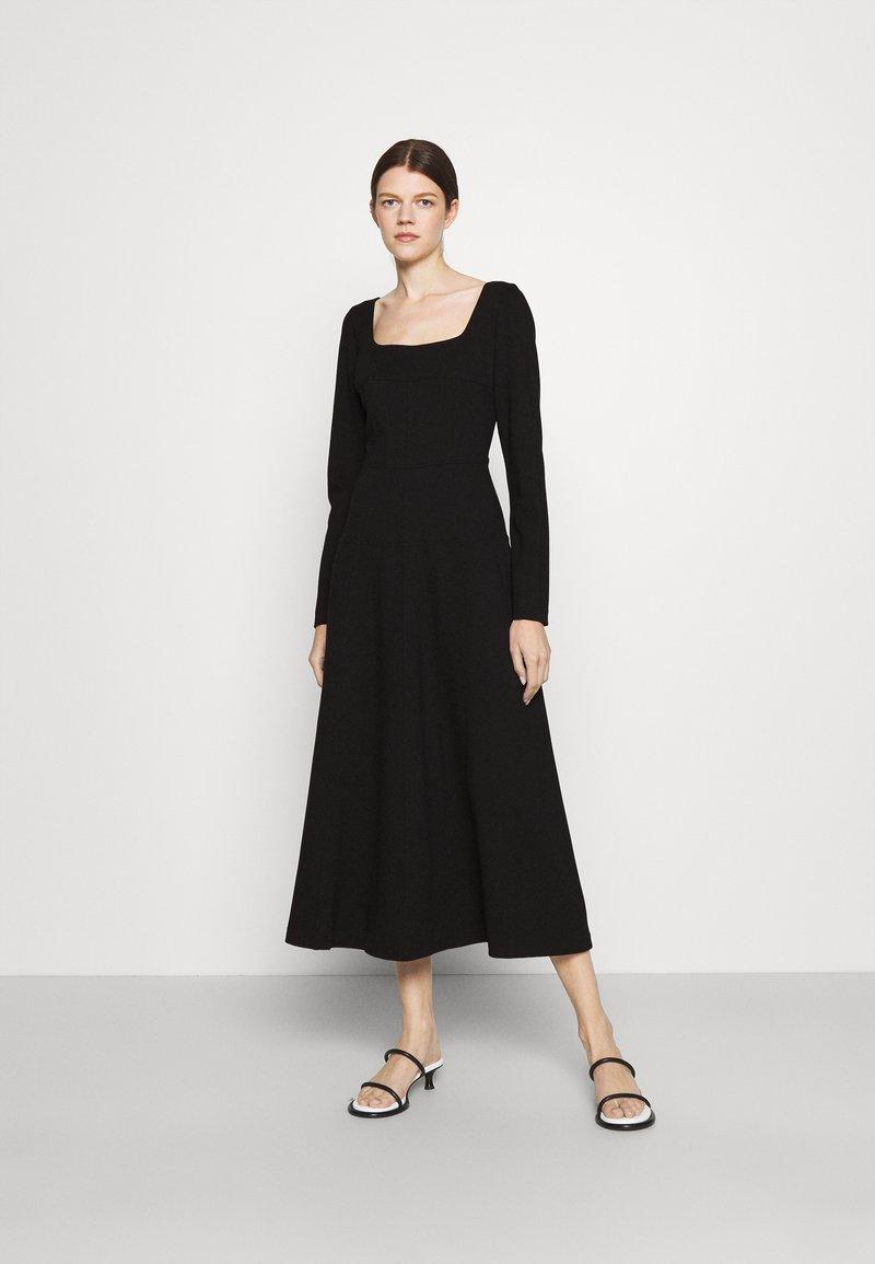 Trussardi - DRESS COMPACT - Day dress - black