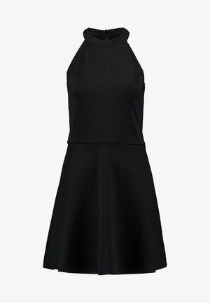PAMELA REIF X  NA-KD HALTER NECK SKATER DRESS - Jerseyklänning - black