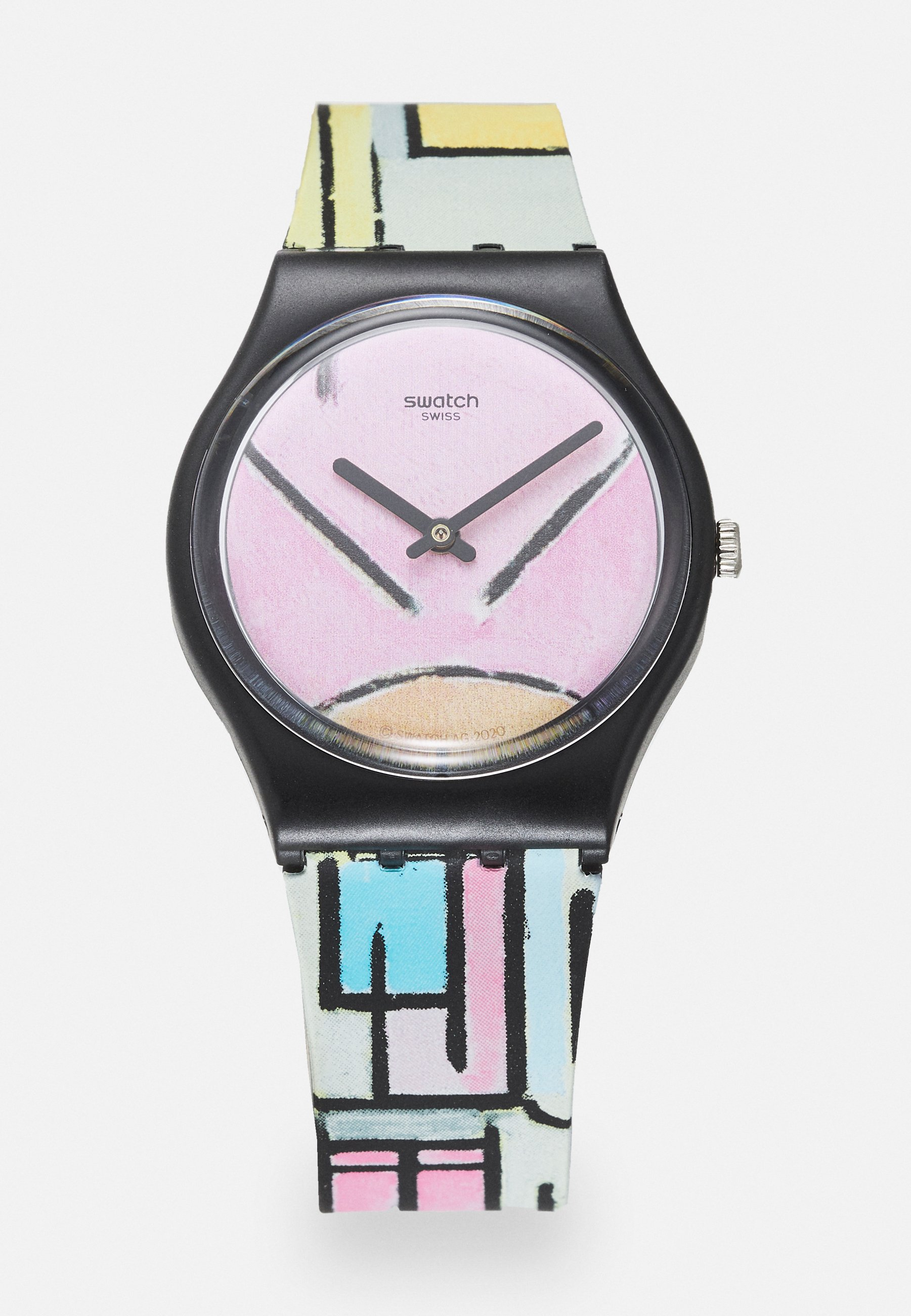 Homme COMPOSITION IN OVAL WITH COLOR PLANES - Montre