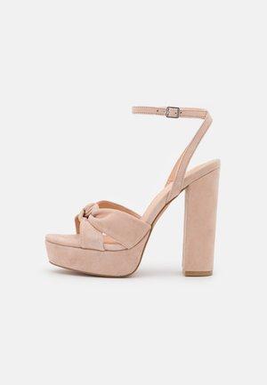 LEATHER - Sandalen met hoge hak - light pink