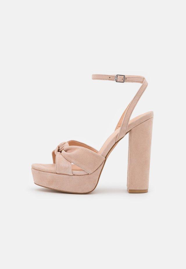 LEATHER - High heeled sandals - light pink