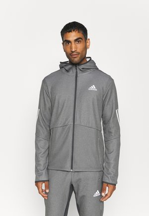 FULL ZIP TRAINING WORKOUT AEROREADY - Training jacket - solid grey