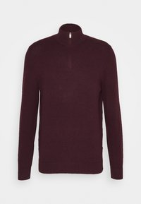 Burton Menswear London - CORE HALF ZIP - Maglione - burgundy - 0