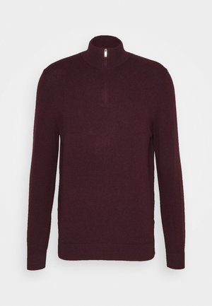 CORE HALF ZIP - Sweter - burgundy