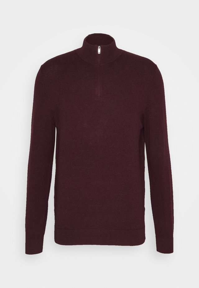 CORE HALF ZIP - Strickpullover - burgundy