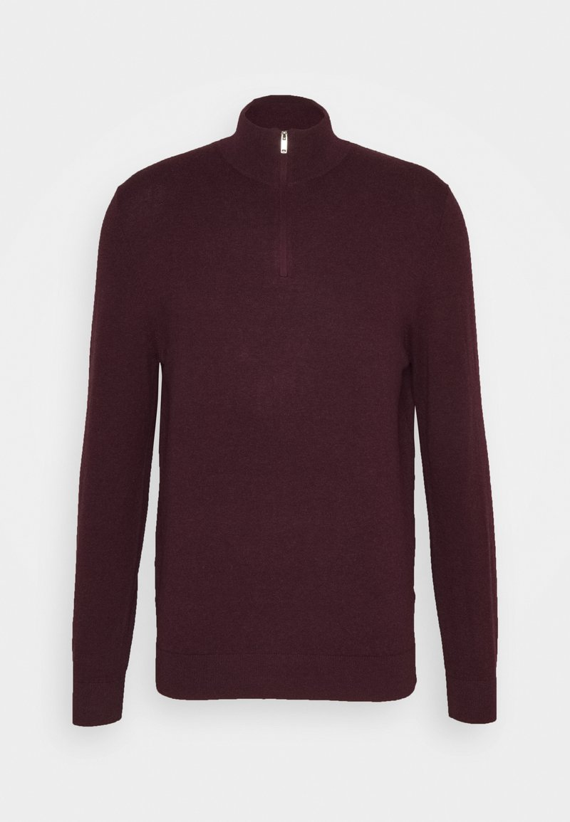 Burton Menswear London - CORE HALF ZIP - Maglione - burgundy