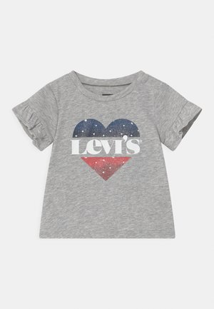 FLUTTER SLEEVE - Camiseta estampada - light gray heather