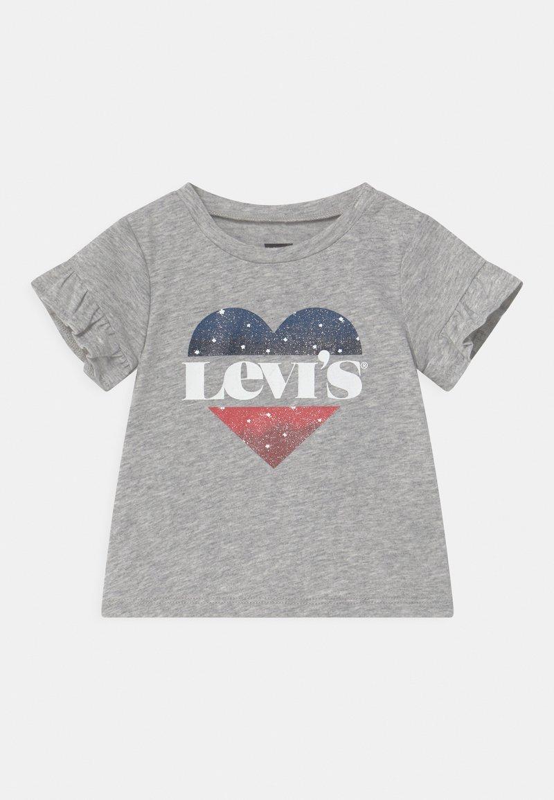 Levi's® - FLUTTER SLEEVE - Print T-shirt - light gray heather
