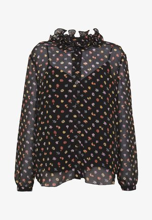 Button-down blouse - multicolor/black