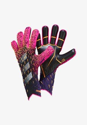 Keepershandschoenen  - schwarzpinklila