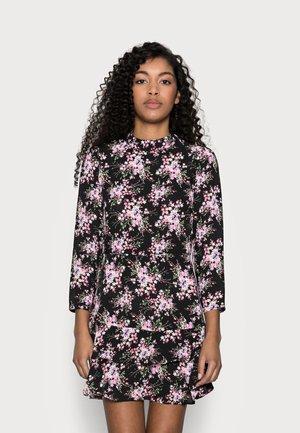 MINI TIERRED HIGH NECK DRESS - Day dress - pink