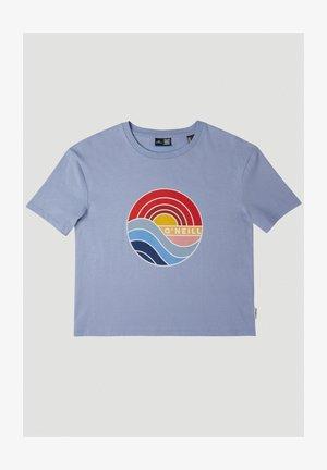 T-shirt med print - forever blue