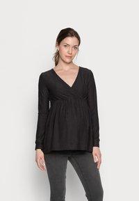 MAMALICIOUS - NURSING - Bluzka z długim rękawem - black - 0