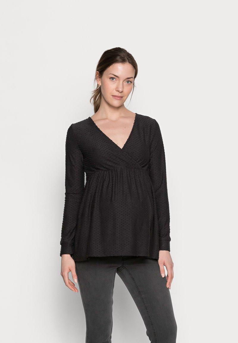MAMALICIOUS - NURSING - Bluzka z długim rękawem - black