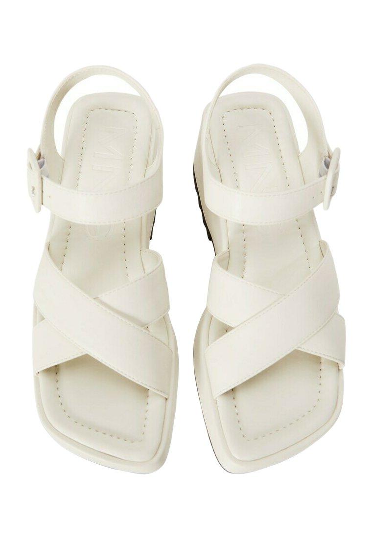 Mango - SPICY1 - Platform sandals - cremeweiß