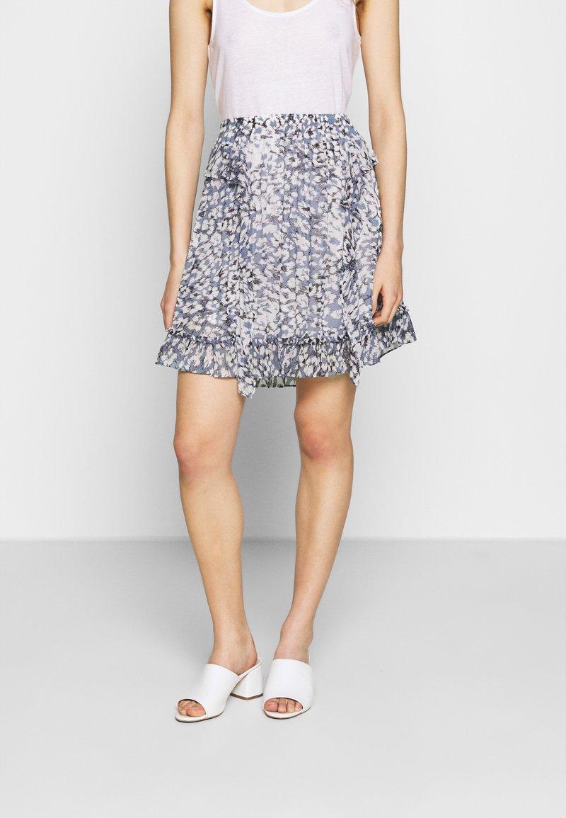 Second Female - CLOUDS SHORT SKIRT - Mini skirt - faded denim