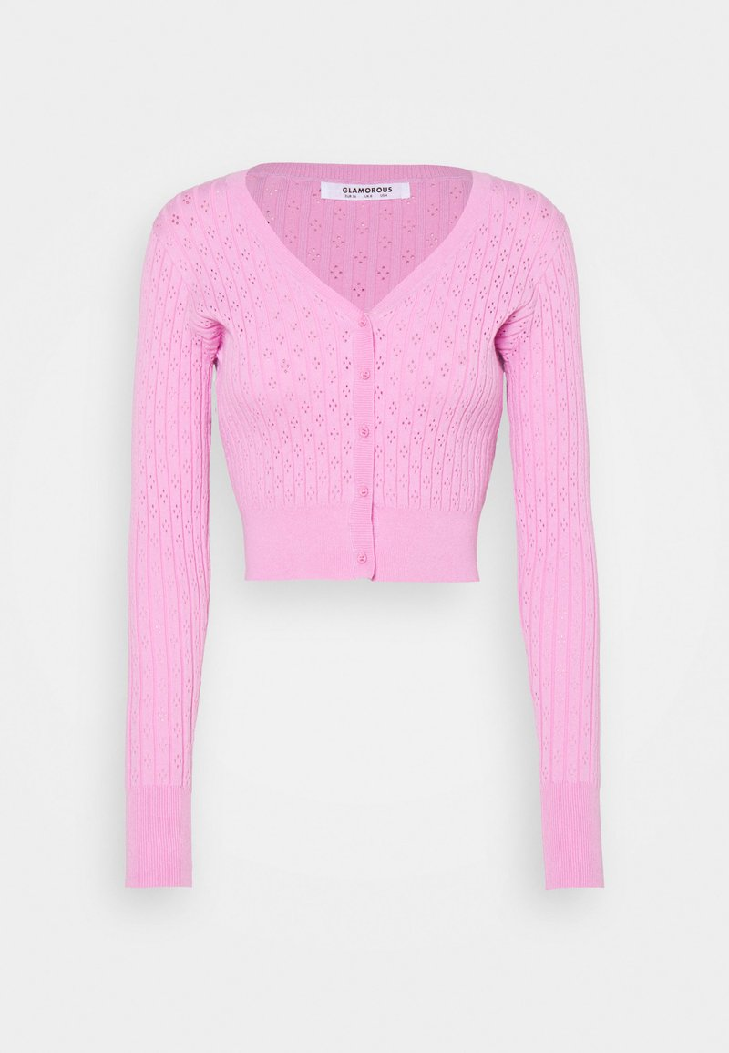 Glamorous - V-NECK WITH LONG SLEEVES - Cardigan - orchid pink