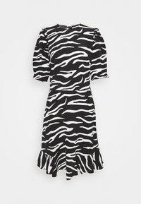 Marks & Spencer London - FRILL SKATER MINI - Day dress - black - 0