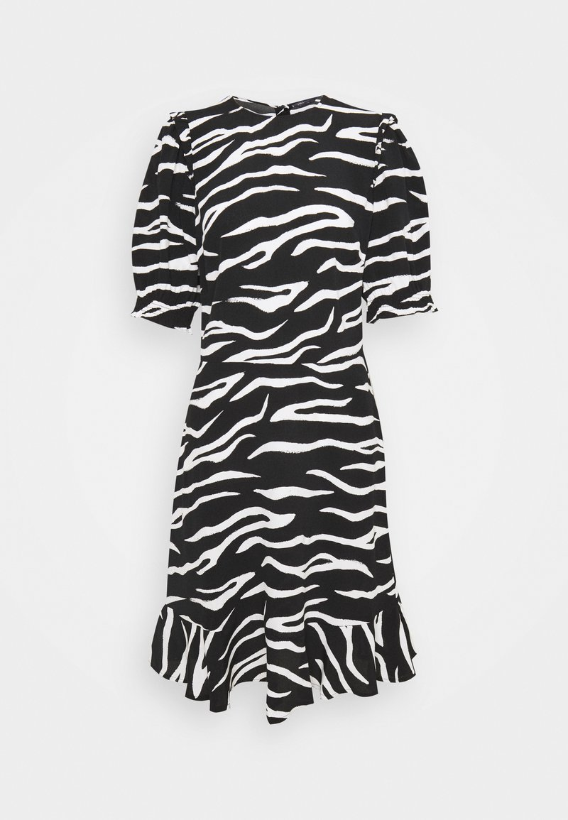 Marks & Spencer London - FRILL SKATER MINI - Day dress - black