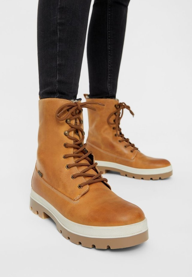 BIADEENA  - Lace-up ankle boots - camel