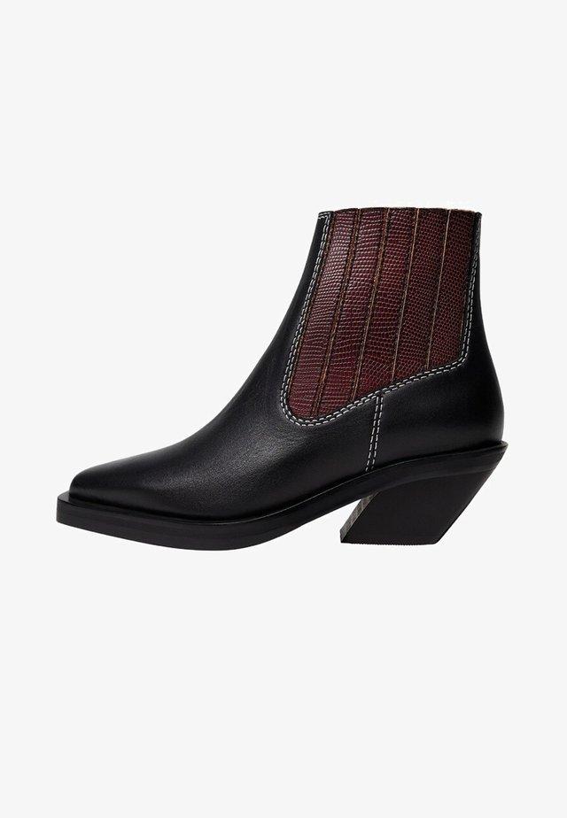RITA-I - Cowboy/biker ankle boot - noir
