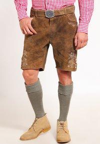 Stockerpoint - CORBI - Kožené kalhoty - havanna - 0