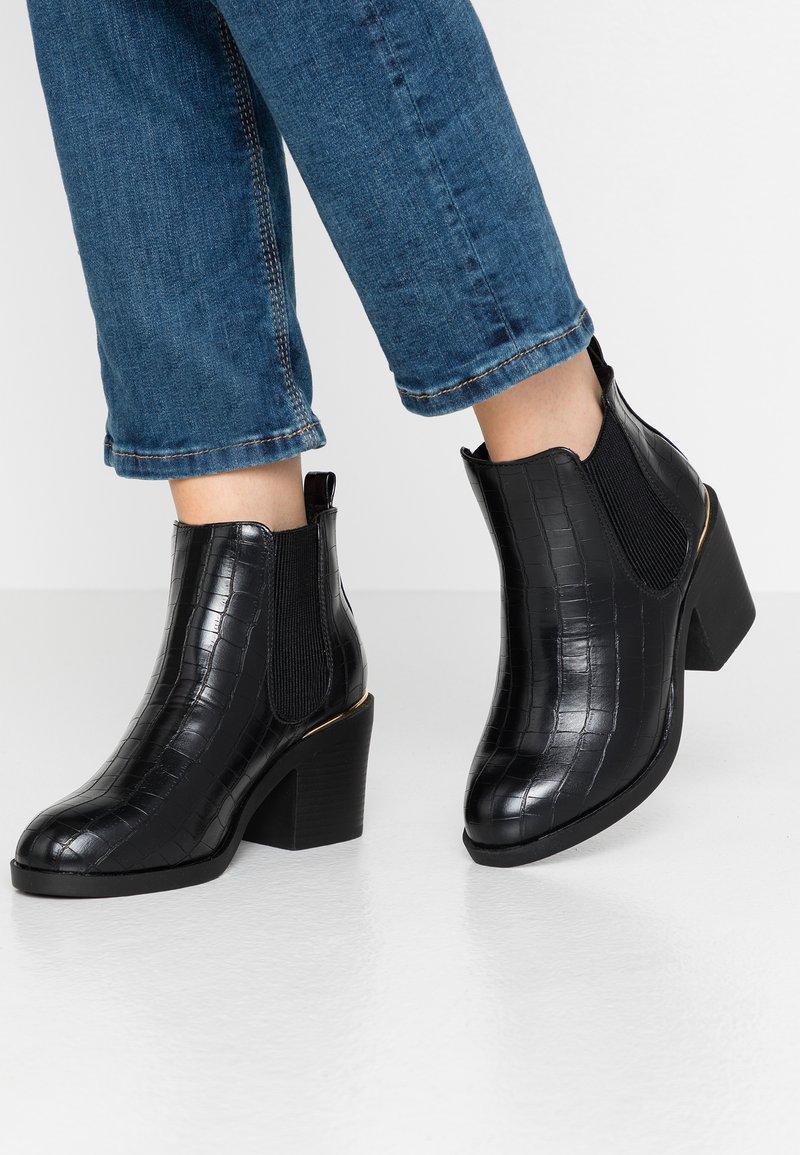Dorothy Perkins Wide Fit - WIDE FIT ANSTY ELASTIC HEELED CHELSEA - Kotníková obuv - black