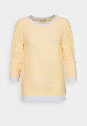 STRIPED - Sweatshirt - yellow/white