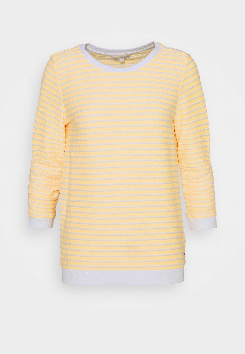 TOM TAILOR DENIM - STRIPED - Sweatshirt - yellow/white