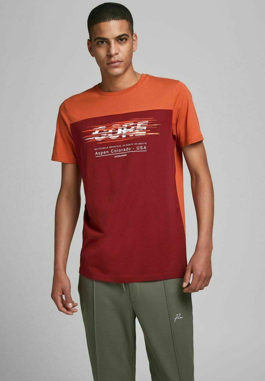 Homme JCOJEWEL TEE CREW NECK - T-shirt imprimé