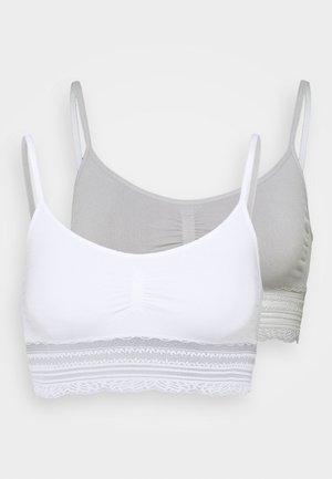 2 PACK - Bustier - grey/offwhite