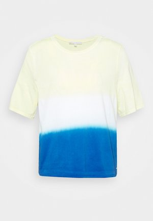 DIP DYE TEE - T-shirts med print - yellow/blue