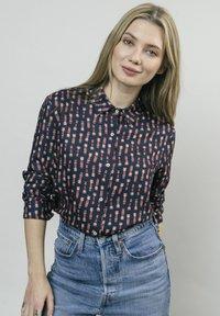 Brava Fabrics - KOKESHI - Button-down blouse - blue - 0