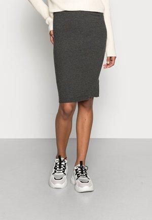 ONLKATIA PENCIL SKIRT - Pencil skirt - dark grey melange