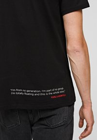 KARL LAGERFELD - LEGEND LOGO  - Print T-shirt - black - 3