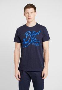 Petrol Industries - T-shirt imprimé - deep capri - 0