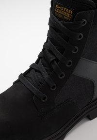 G-Star - POWELL Y BOOT - Nauhalliset nilkkurit - dark black - 5