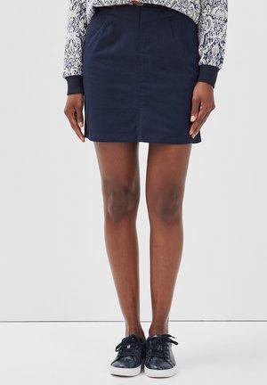 MIT GÜRTEL - A-line skirt - navy blue